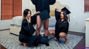 StepSiblingsCaught – Hime Marie And Lulu Chu – Stepsisters Graduation Day