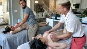 MomSwap – April Storm And Nickey Huntsman – Stepmomss Massage Treat